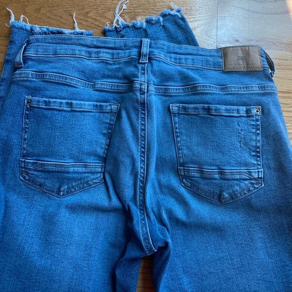 Zara denim blue jeans Sz 8